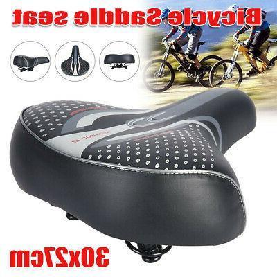 Comfort Extra Wide Big Bum Bike Bicycle Gel Soft Pad Saddle