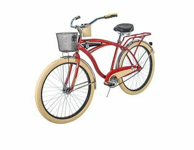 cruiser bike mens deluxe 26 inch red