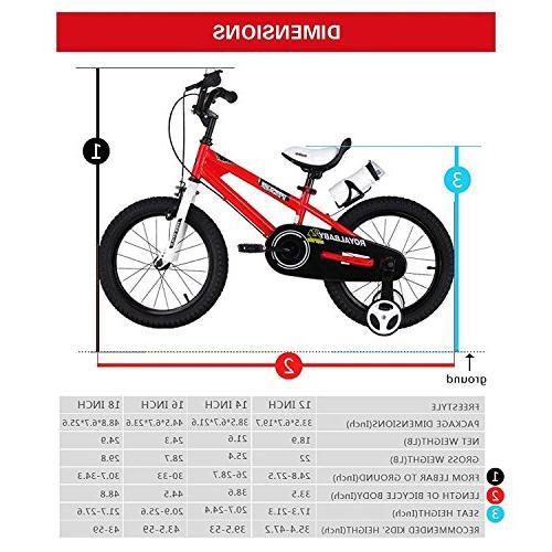 Royalbaby BMX Freestyle Kids Bike, and Bikes Training Wheels, Children, inch White