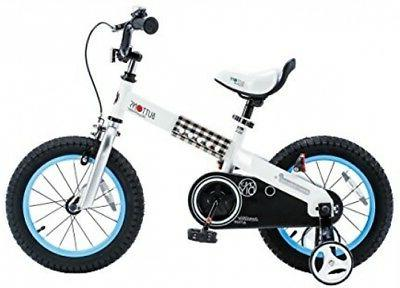 Royalbaby CubeTube Buttons 14 Bicycle For Kids, Blue