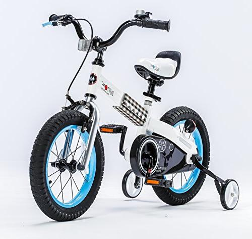 """RoyalBaby CubeTube Buttons 14"""" Bicycle for Kids,"""