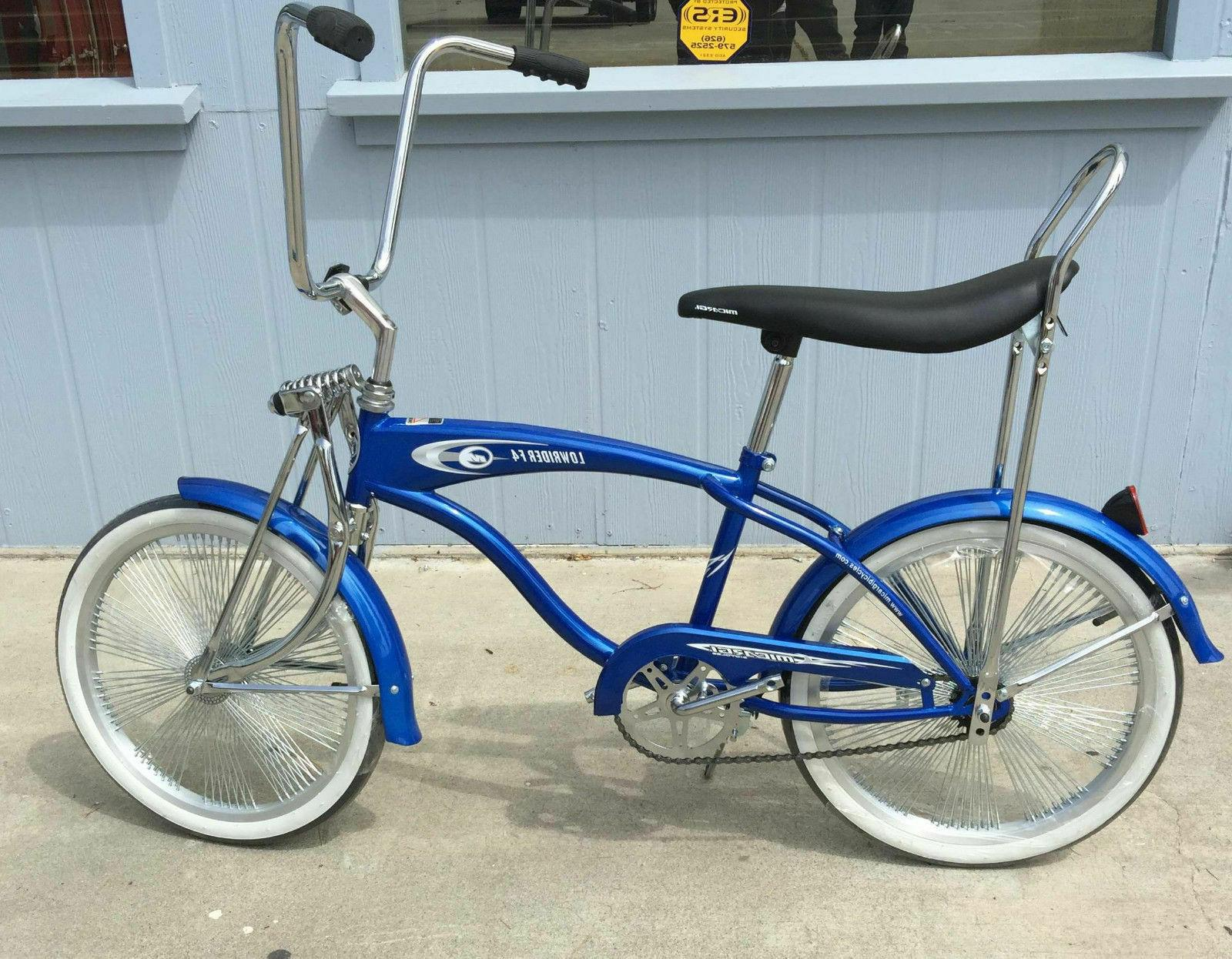 "Custom 20"" Lowrider Blue Spokes"