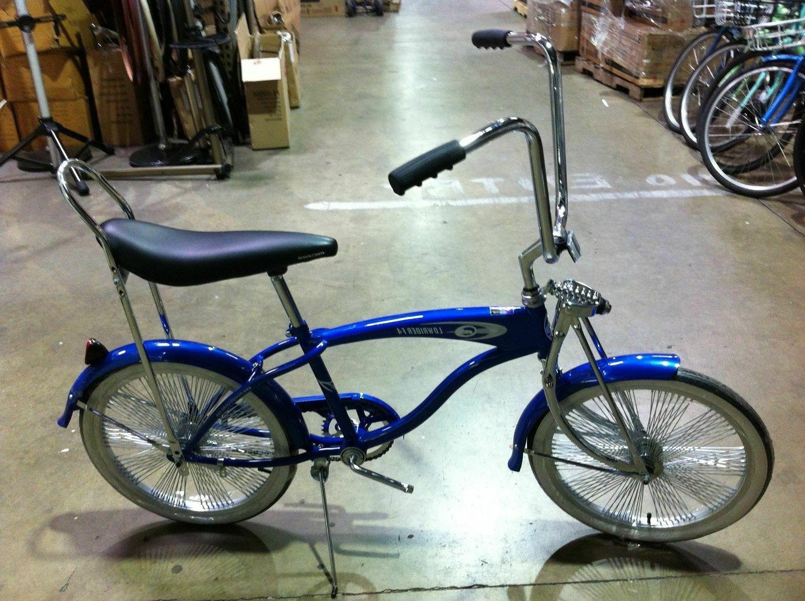 custom 20 lowrider bike blue with 140