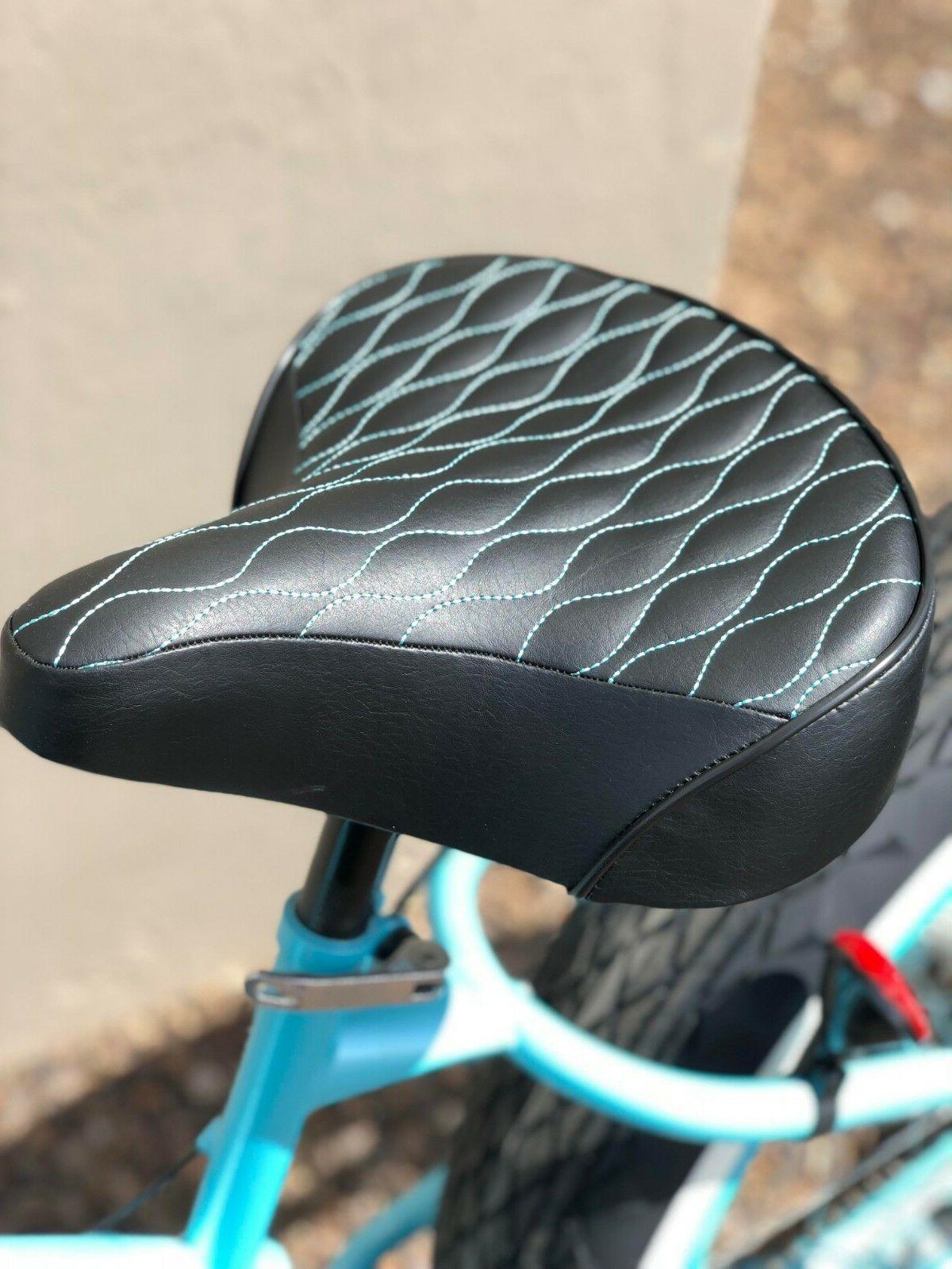 TEAL STITCHING Custom Beach Cruiser Comfortable Bicycle Seat