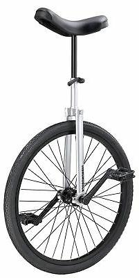 "Diamondback Bicycles CX Wheel Unicycle, Chrome/Painted, 24""/"