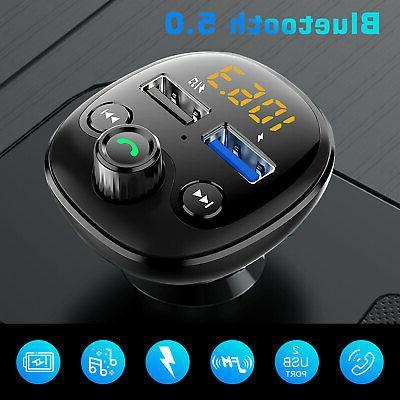 Handsfree Bluetooth Car Kit FM Transmitter LCD MP3 Player Fa