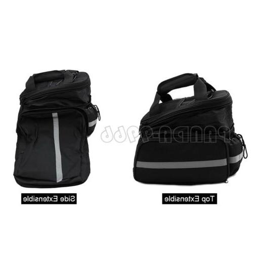 Cycling Bike Bicycle Seat Bag Storage w/ Cover