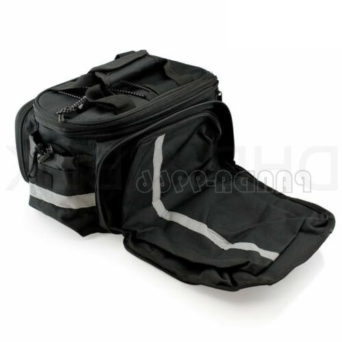 Cycling Bicycle Rear Seat Bag Rack Trunk Storage Shoulder Cover
