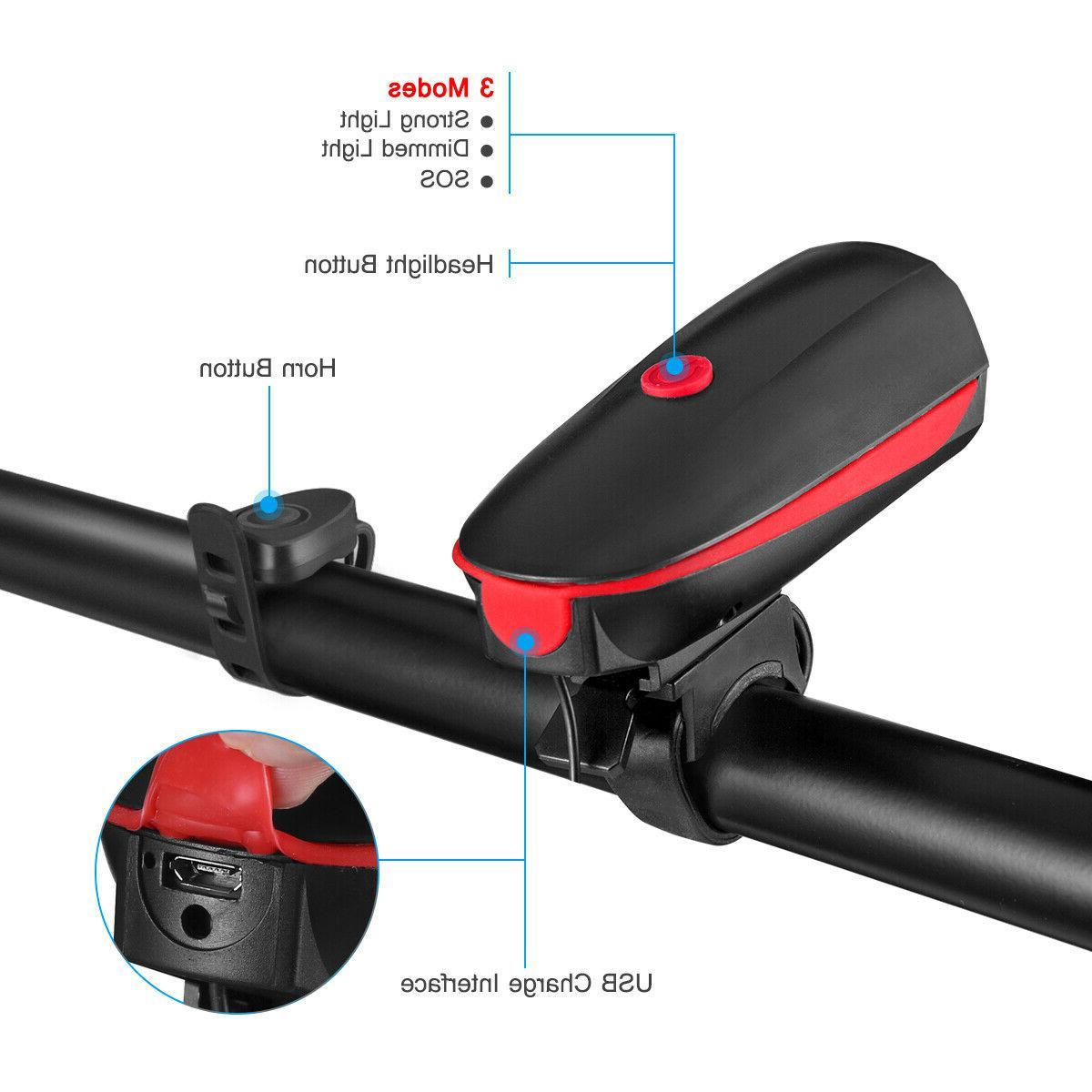 Super Bright USB Bike Light Rechargeable Headlight &Taillight
