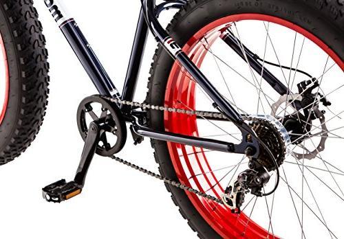 """26"""" Mongoose 7-speed Fat Mountain Bike, Navy"""