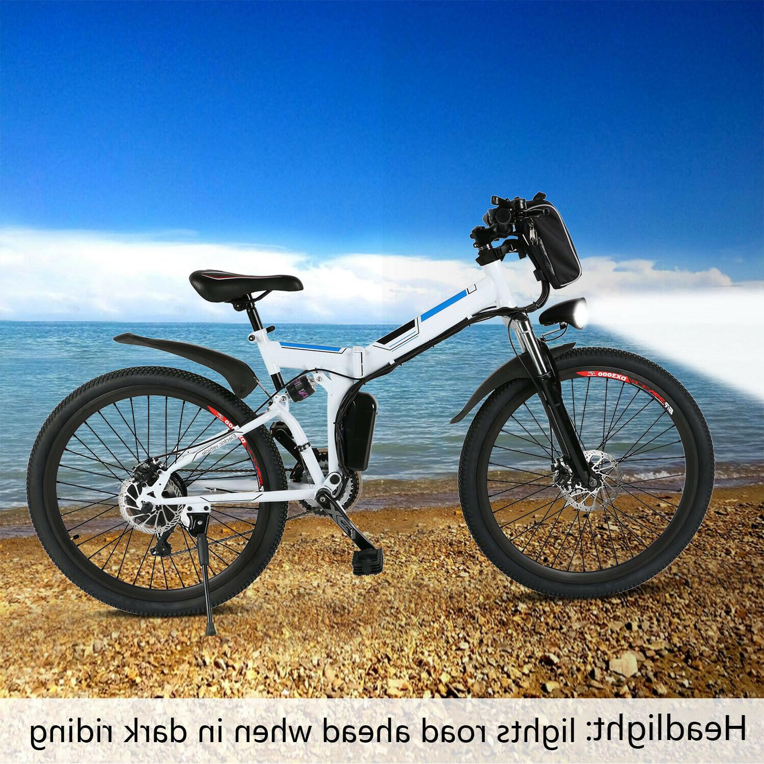 """Ancheer Power Electric Bike with Lithium-Ion Battery 26"""" Whe"""