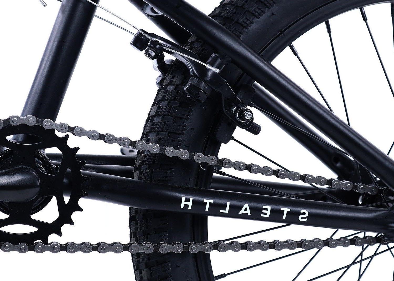 Elite BMX Stealth Bicycle Freestyle Bike Matt Black 2018
