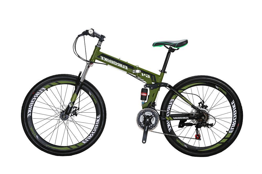 folding mountain bike 26 full suspension shimano