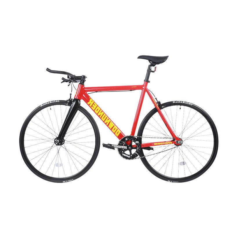 fixed gear bike red 700c carbon fiber