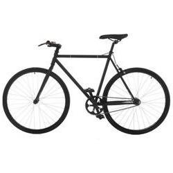Fixed Gear Fixie Single Speed Road Bike, 21.3 in, Matte Blac
