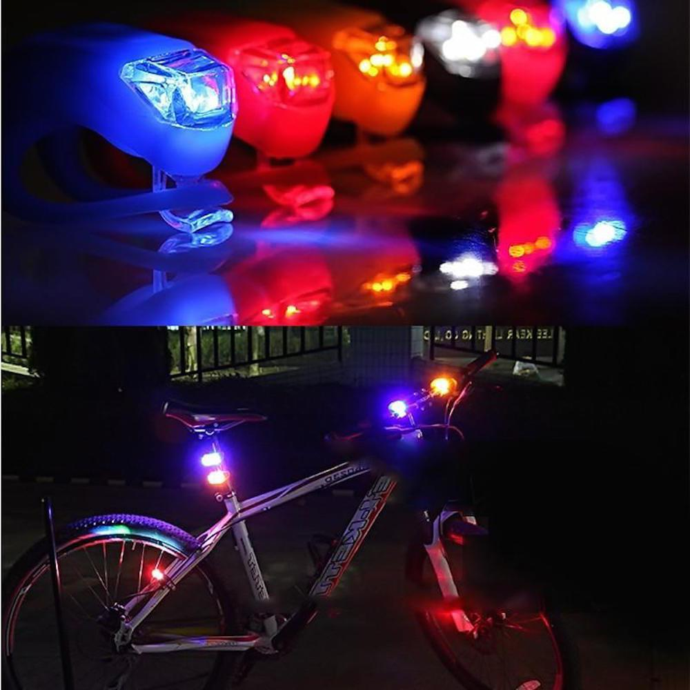 HEADLIGHT FRAME LED Light FOR Cycling Bike Bicycle Glow Frog