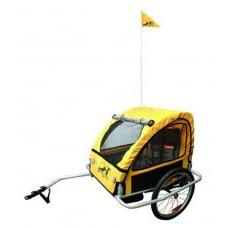 M-Wave Foldable Bicycle Trailer with Suspension