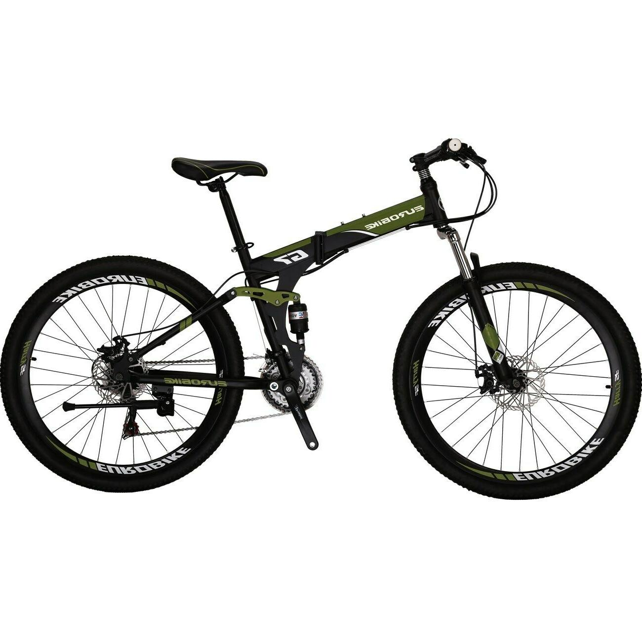 "Eurobike Folding Bike 21 27.5"" Mens Brake"