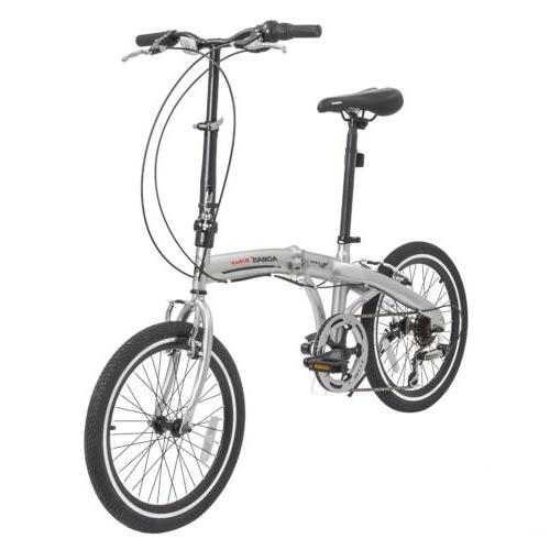 "20"" Suspension Mountain Bike Shimano 6 Speed Bicycles Silver"