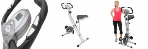 folding magnetic upright bike with pulse 300