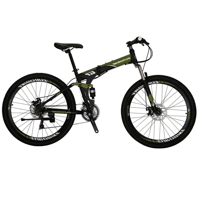 Folding Mountain Bike Speed Full Suspension 27.5 Brake