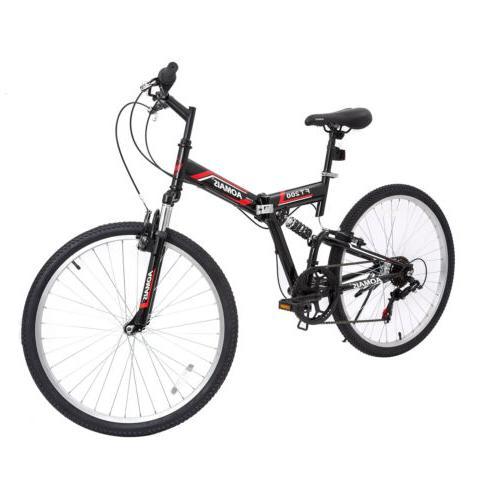 "26"" Mountain Foldable Hybrid Bike Speeds"