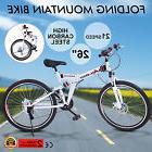 "FOLDING MOUNTAIN BIKE 26"" 21 SPEED MTB BICYCLE HARDTAIL FOLD"