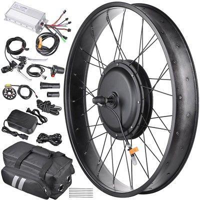 48V 1000W Front Fat Tire Electric Bike eBike Conversion Kit