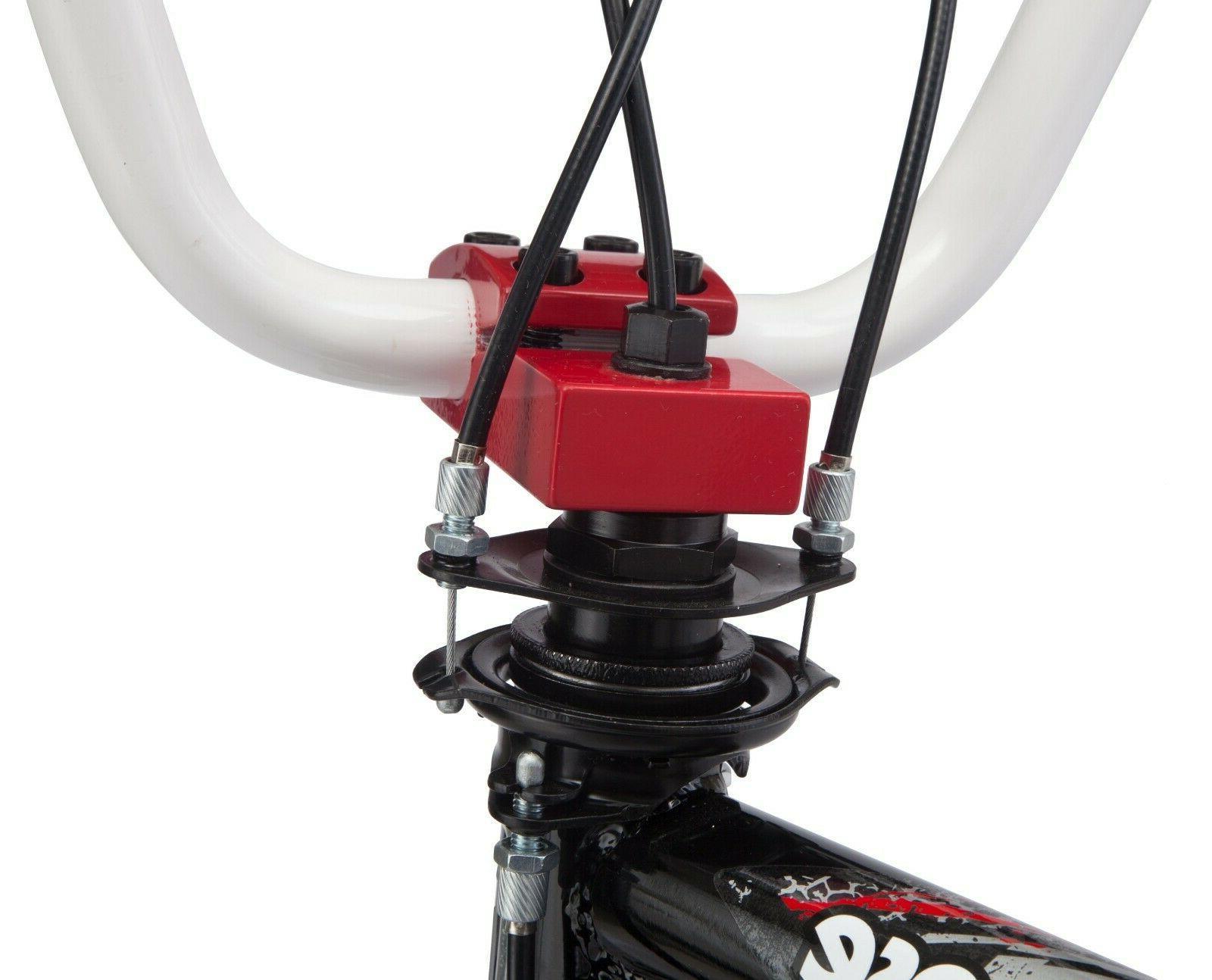Mongoose Kids BMX Bicycle 20-inch Wheel Black White