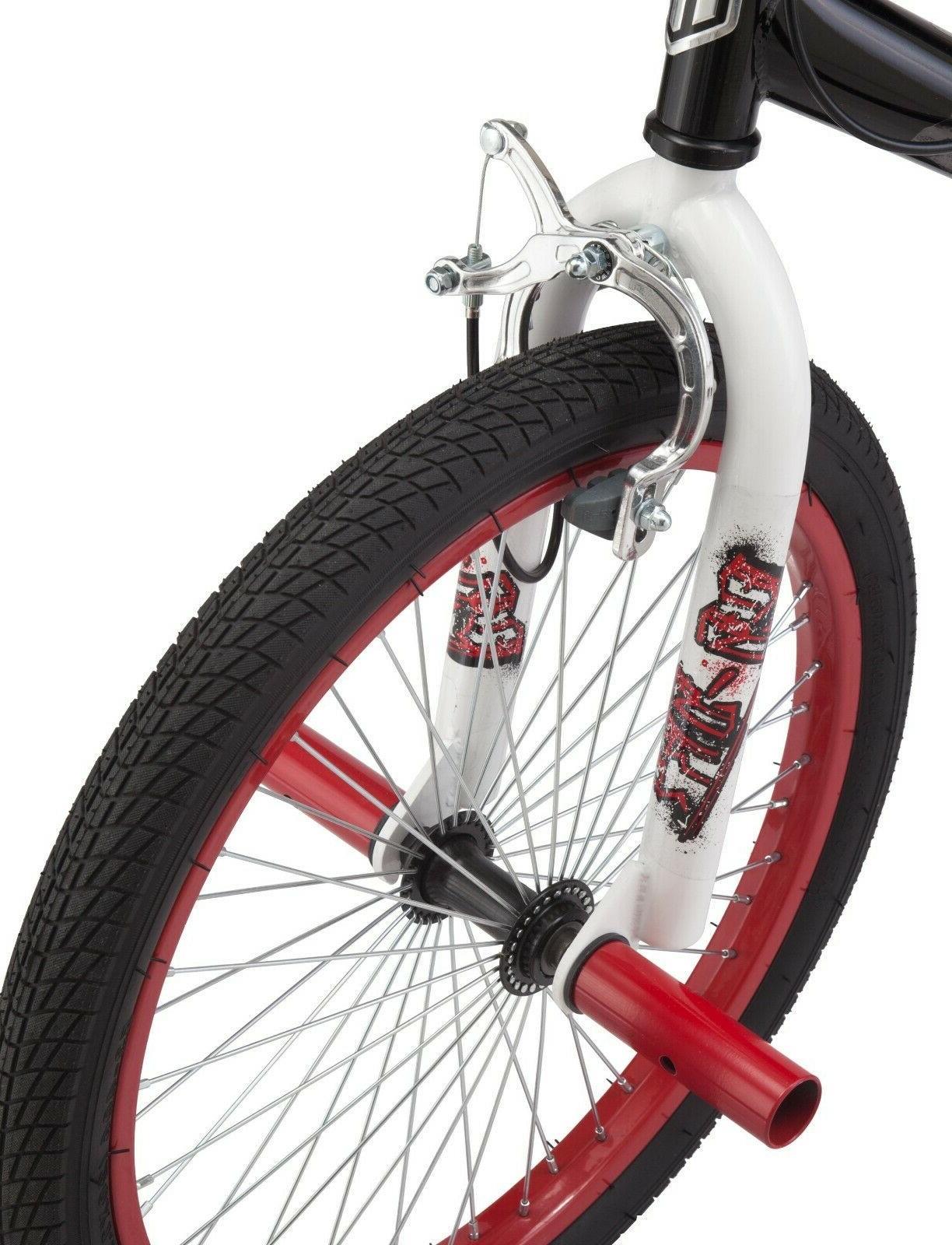Mongoose FS BMX style Bicycle 20-inch Wheel Boys Black