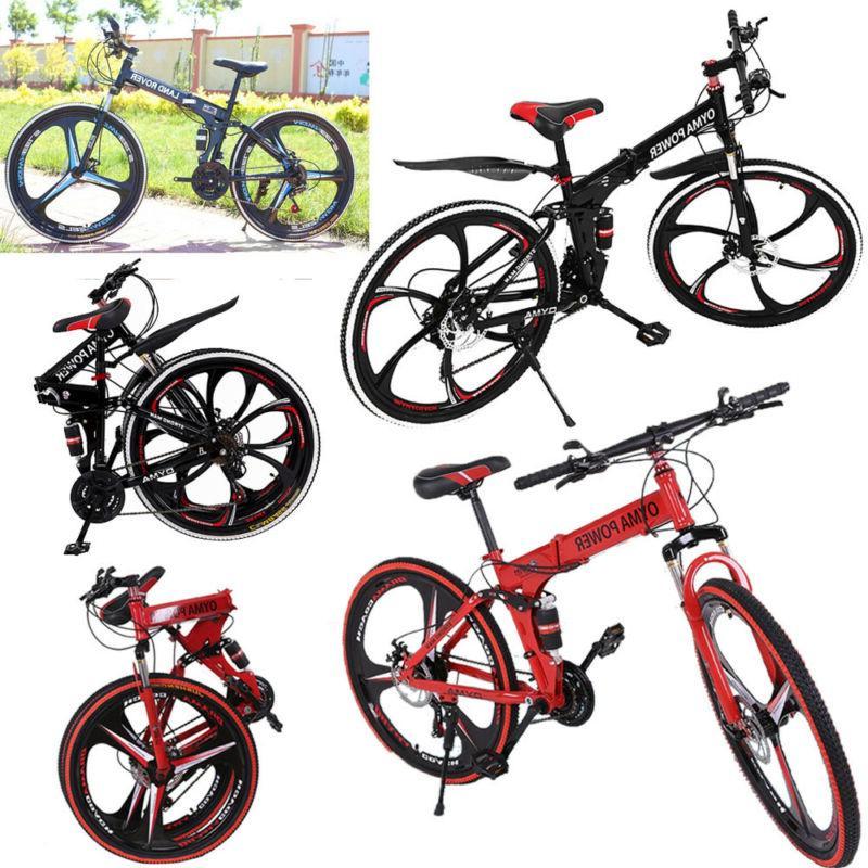 """Full Folding Mountain Bike 26"""" Bicycle MTB"""