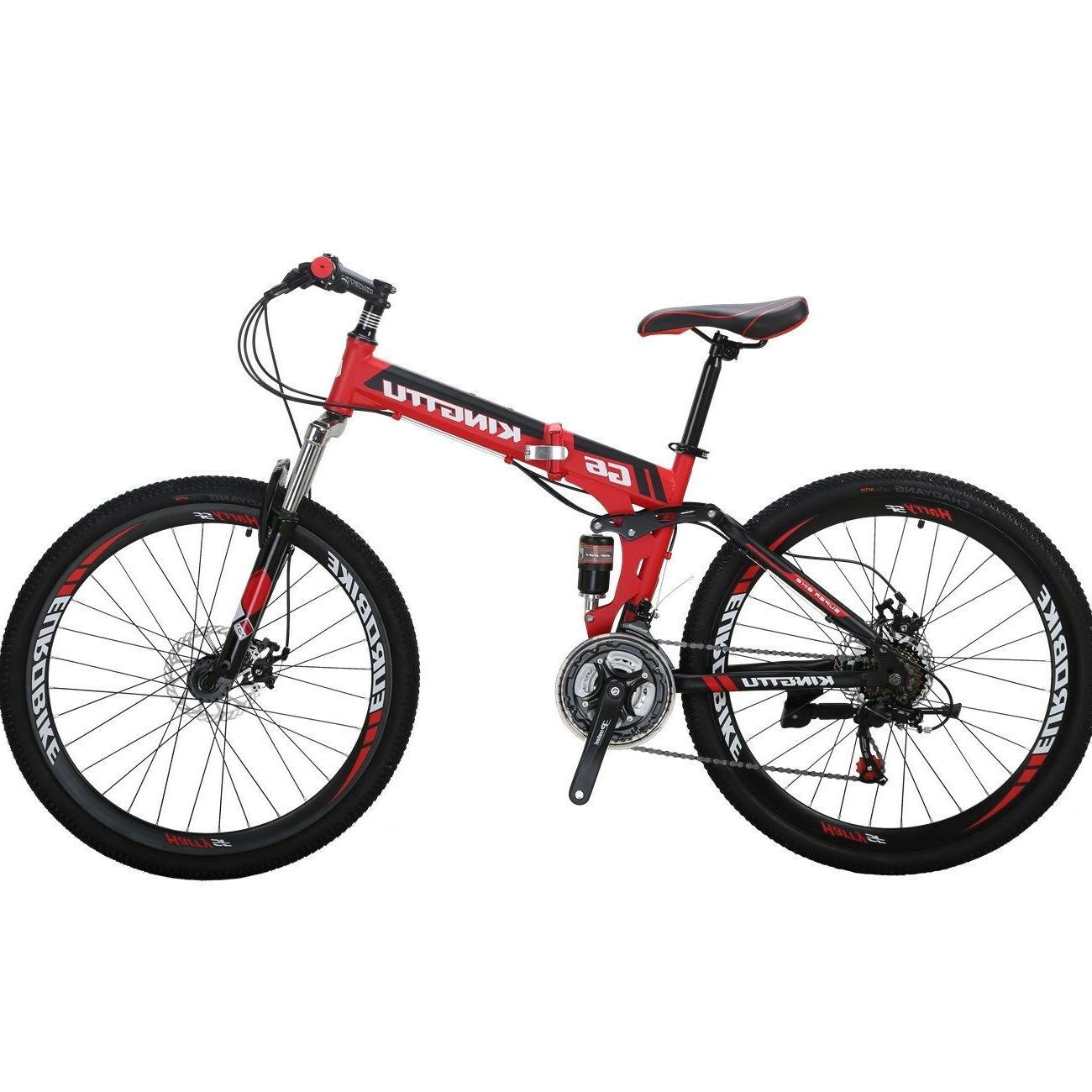 """Full suspension Folding Mountain Bike 26"""" Bikes 21 Speed Bic"""
