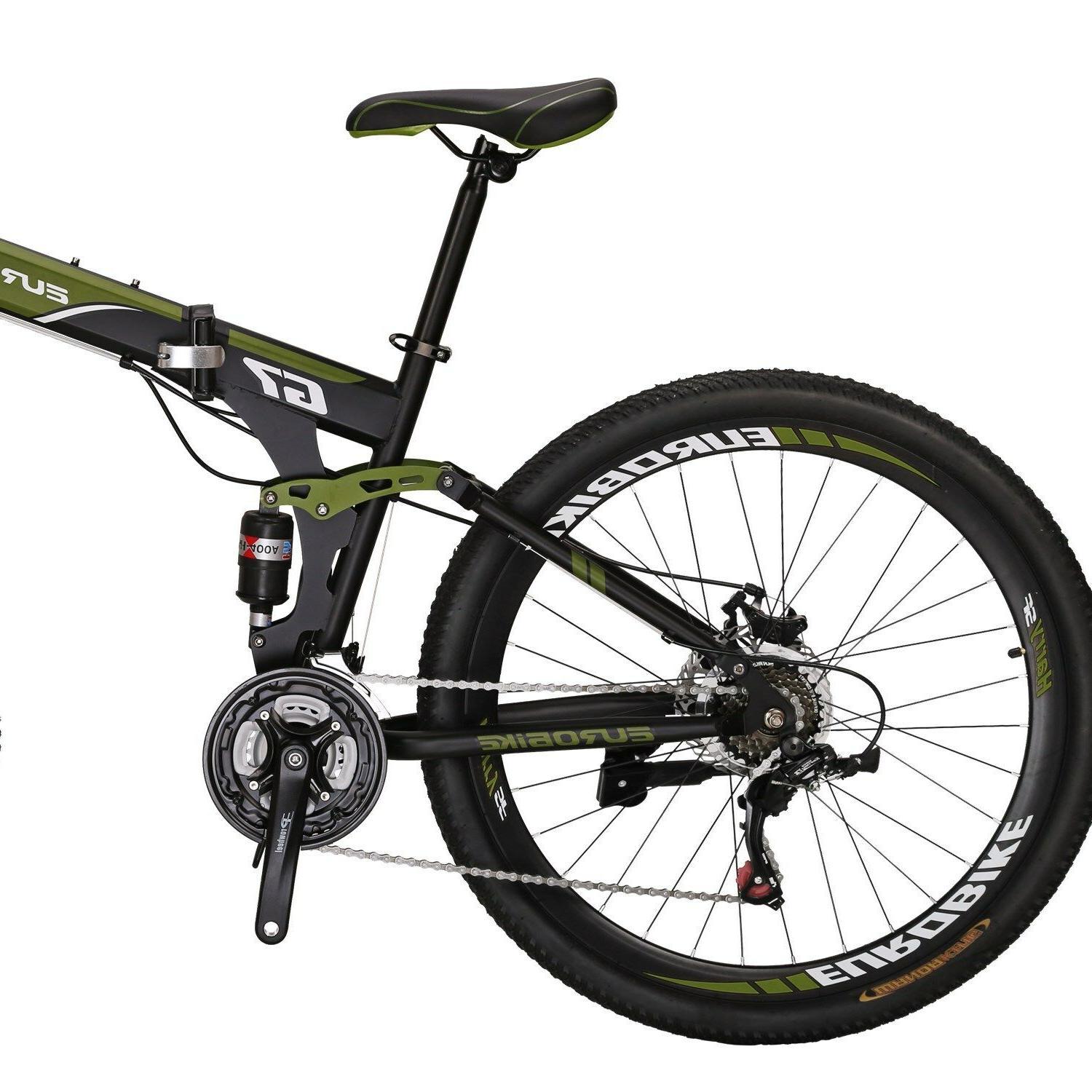 "27.5"" Full Suspension Folding Mountain Bicycle Mens Brake"