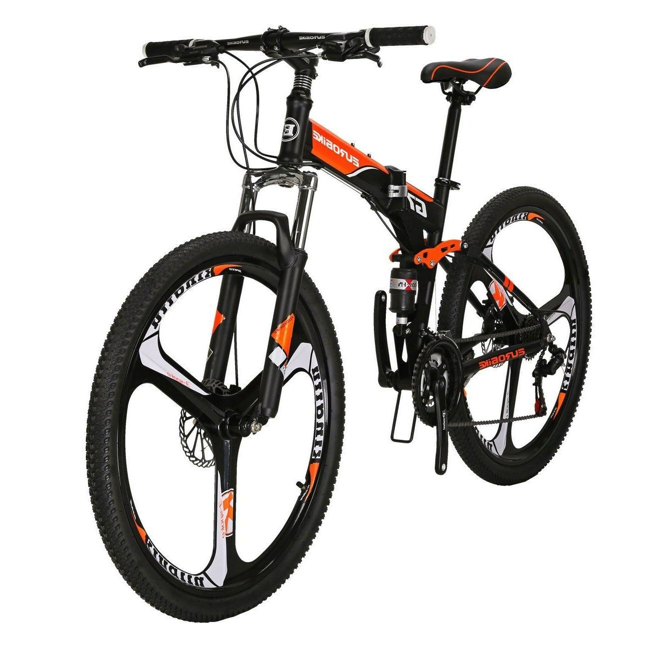 """Full Suspension Bike 27.5"""" Mens Bicycle 21 Speed MAG wheels"""