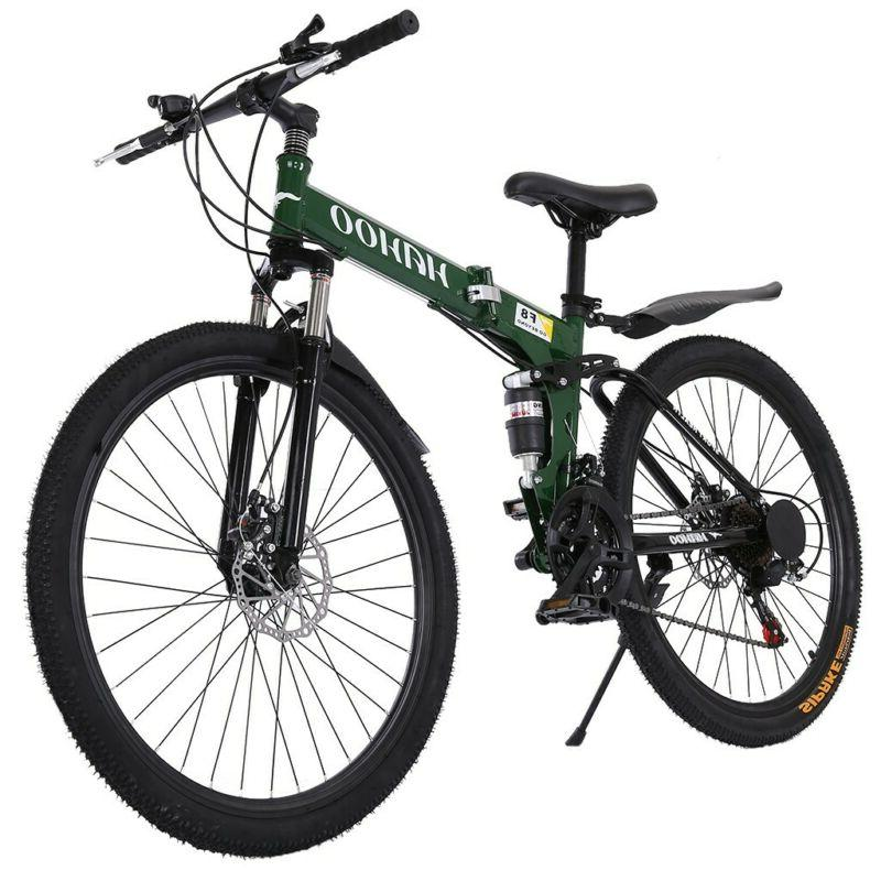 Adult 26 inch Full Suspension Mountain Bike 21Speed Folding
