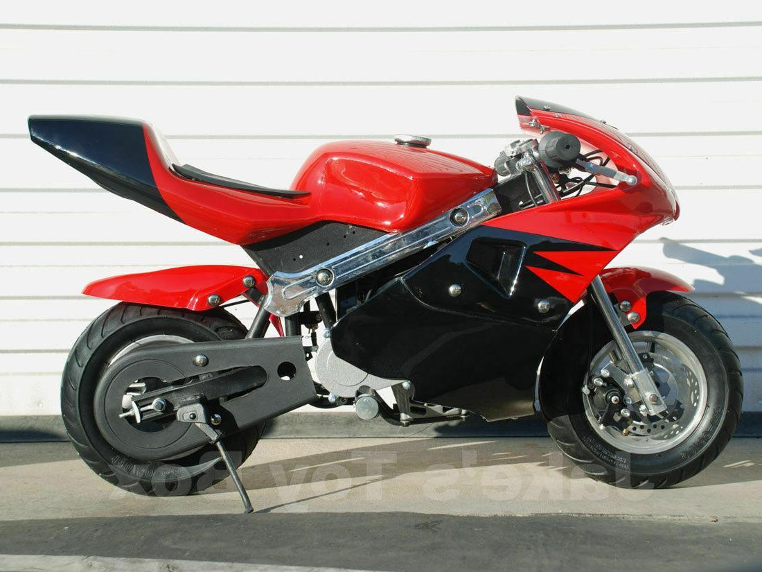 Gas Pocket Bike, 49cc 2-stroke ;