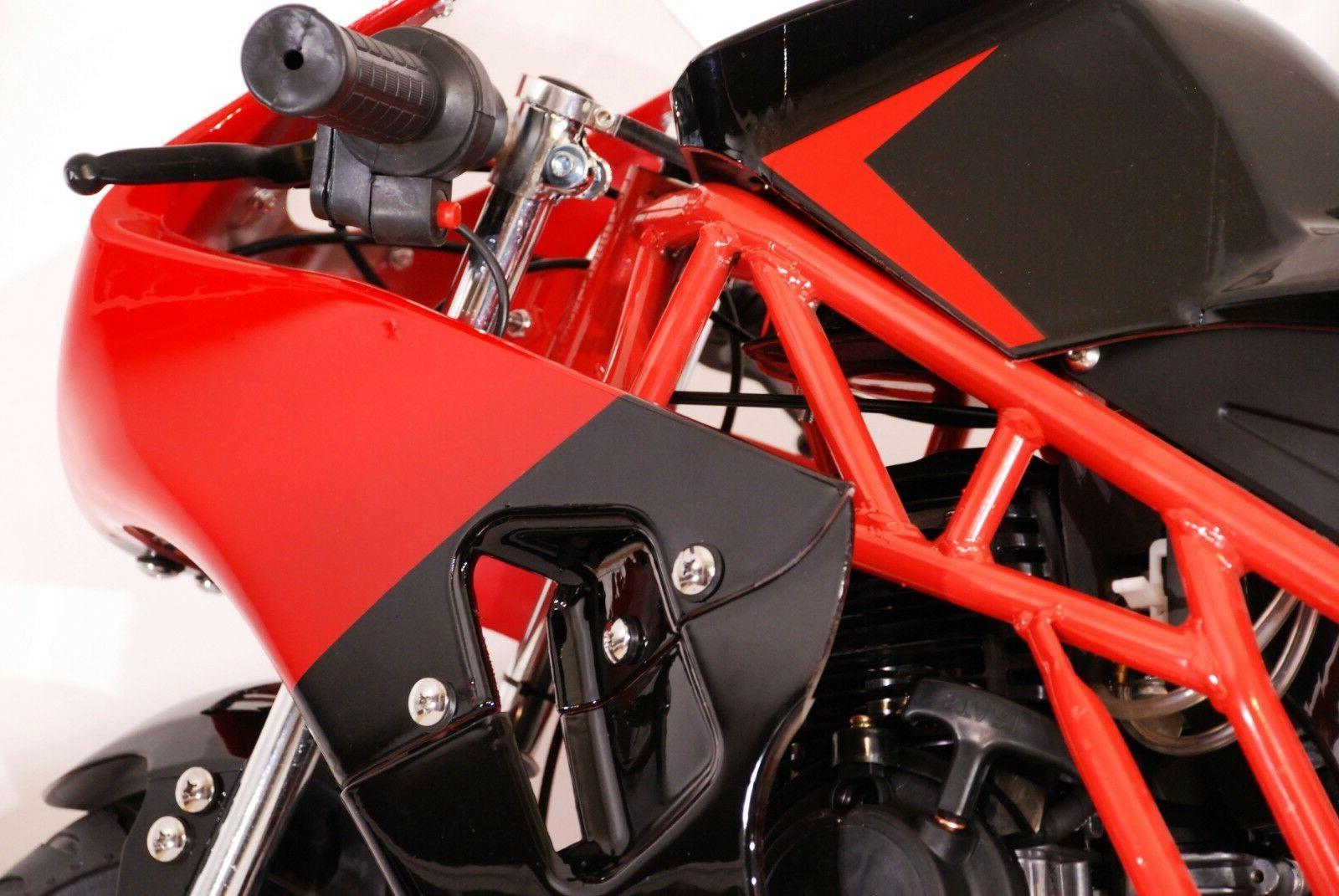 Gas Mini Pocket Bike, 49cc dual exhaust -