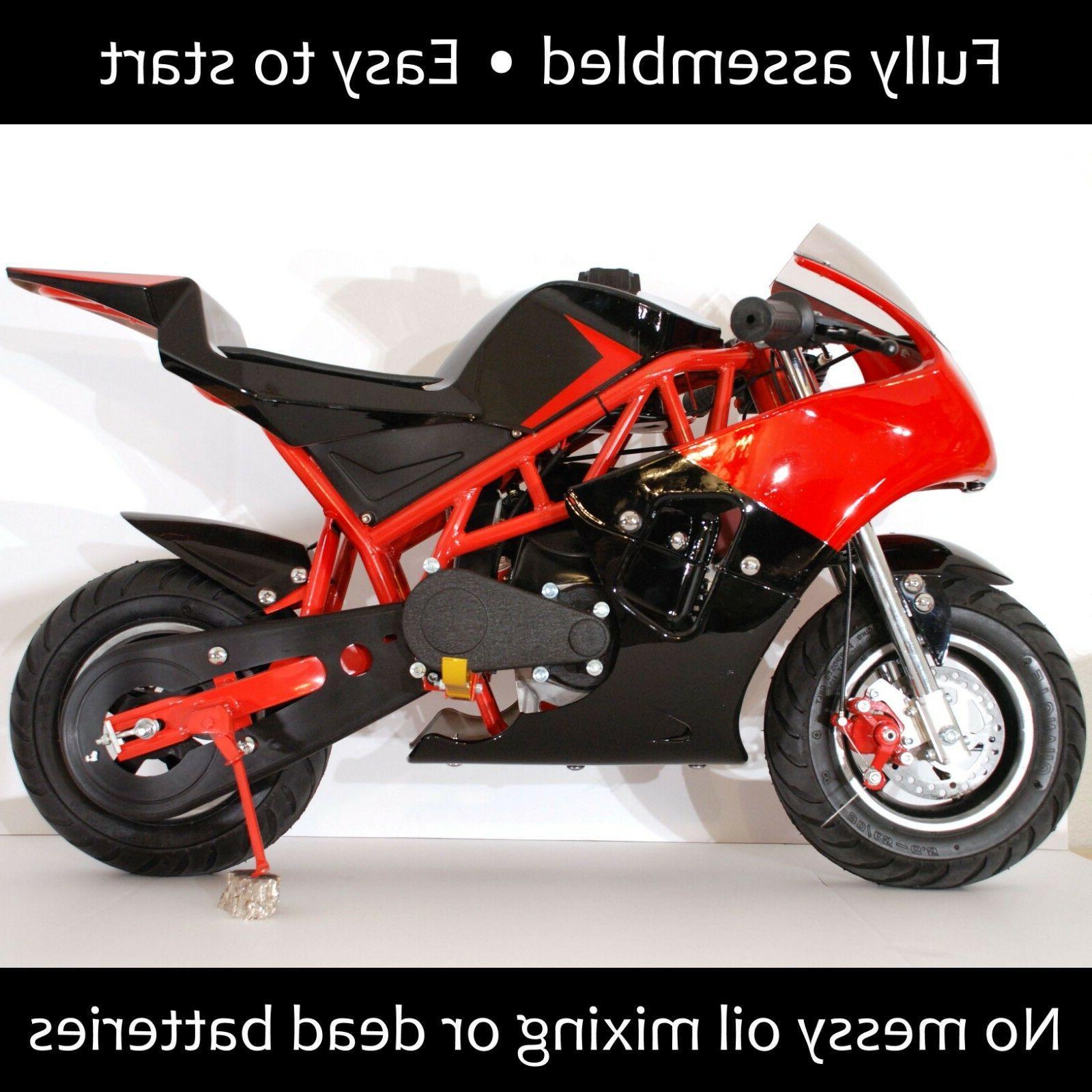 gas mini pocket rocket bike 40cc 4