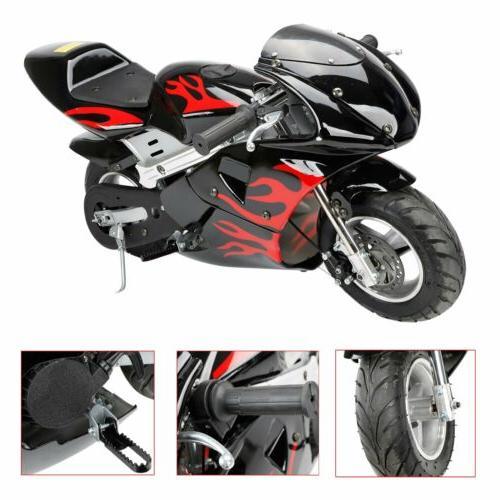 gas pocket bike motorcycle mini powered 49cc