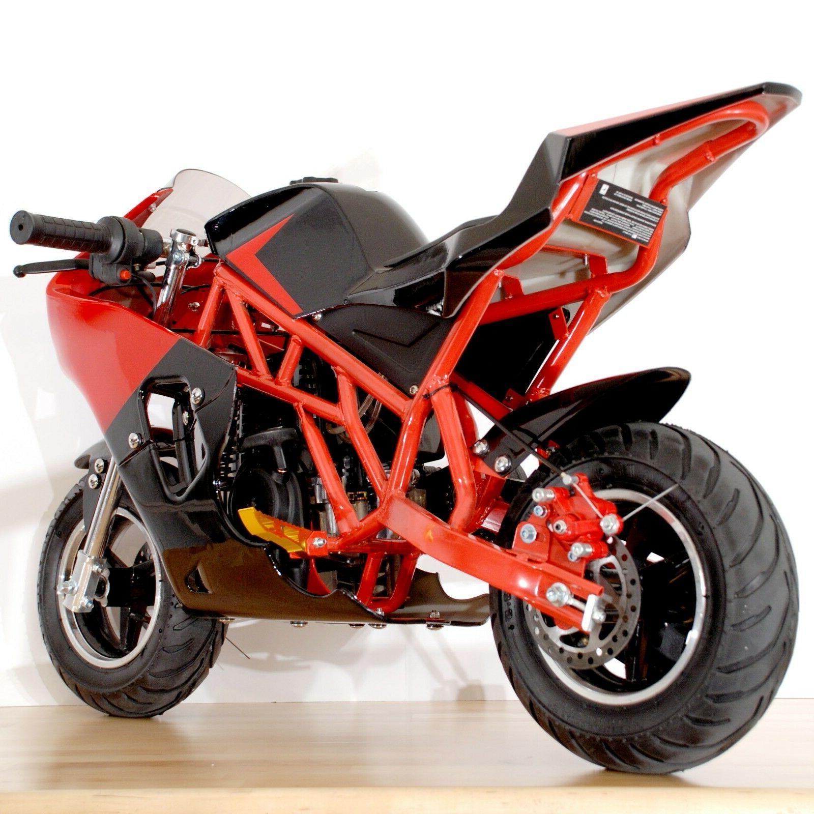 Gas Powered Mini Motorcycle Pocket Bike 40cc 4-Stroke