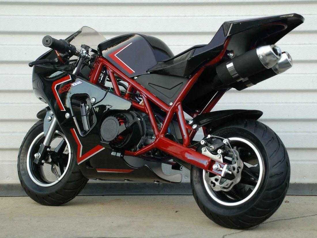Gas powered mini pocket bike - minibike for kids - 50cc 2-st