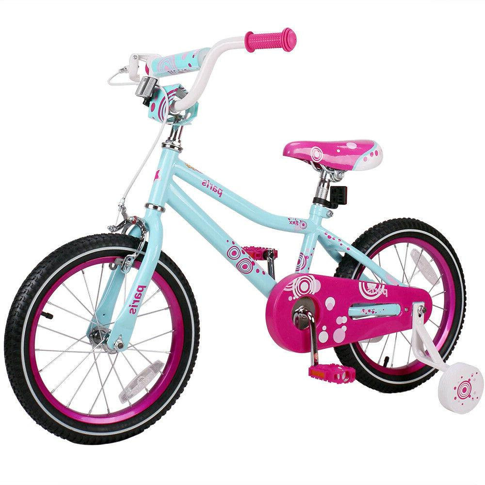 Girls 14 Inch Bicycle for 3-7 Years Old Child's Cycle with T