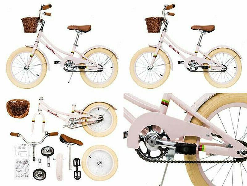 girls bike with basket for kids 14