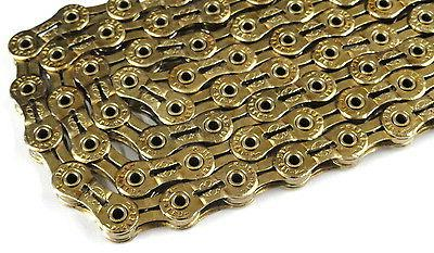 """GOLD YBN 9 Speed Bicycle Chain 1//2/""""x11//128/"""" 116L Fit Shimano Sram /& Campangnolo"""