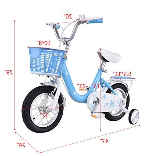 """Goplus Kids and Girl's Training Wheels and Perfect Kids, 16"""""""