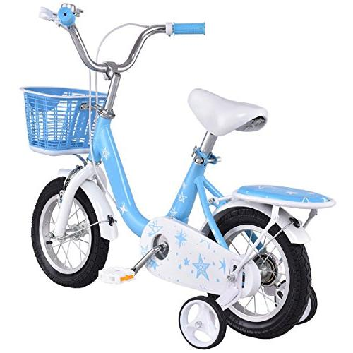 "Goplus Bike and Training Wheels Basket Perfect Gift 16"""