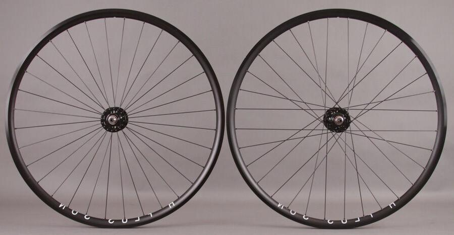 H + Plus Son Archetype Black rims Track Fixed Gear Bike Whee