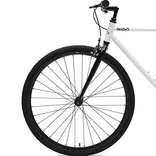 Critical Single-Speed Fixed Bike; 57cm, White Black