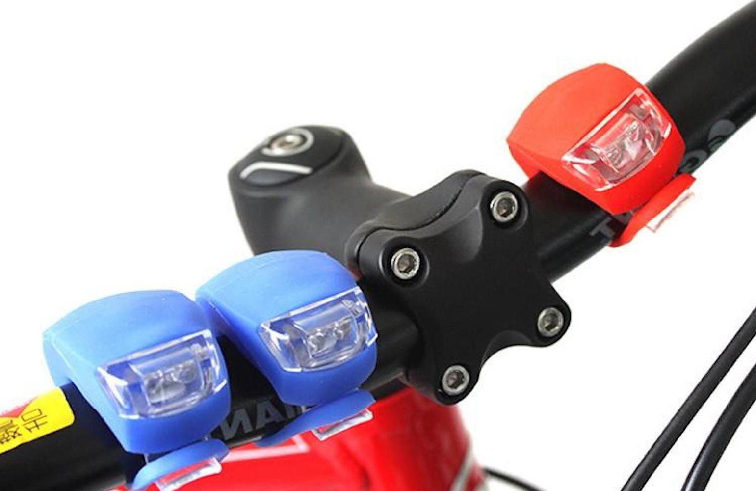 FLASH LED Frog Bicycle front head rear bar frame