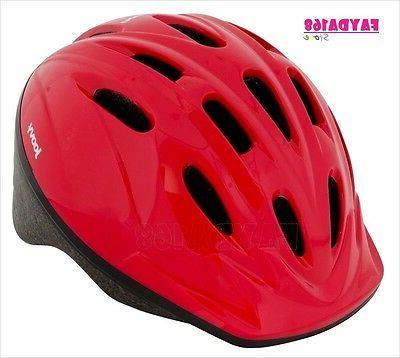 Helmet Red Air Vents Kids Children Activity Fun Outdoor